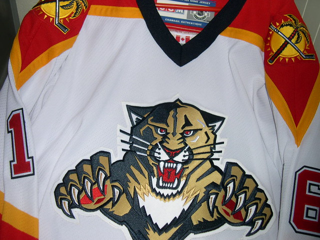 pretty nice ed924 78aa9 Florida Panthers White Jersey | Self-made shot of a now old ...