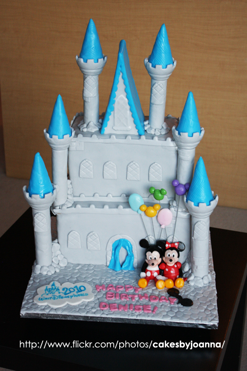 Superb Disney Castle Cake A Photo On Flickriver Personalised Birthday Cards Beptaeletsinfo