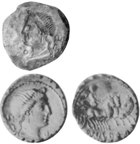 382/1 C.NAE BALB Venus Roman Republican denarius, low-relief obverse die found in Dacia and also coin of higher relief but same form, Maccarese hoard, showing the die did not make this coin despite apparent match | by Ahala