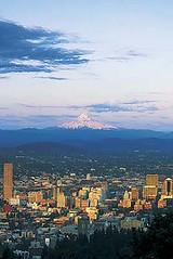 Downtown Portland, Oregon & Mt. Hood