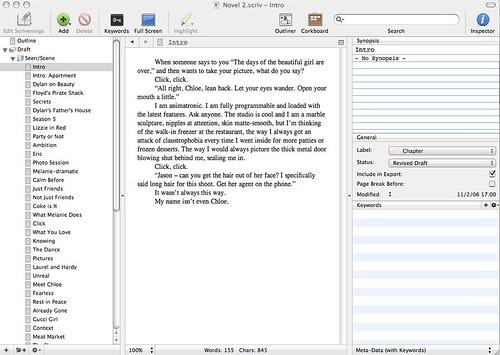 scrivener beta | by cranky pixels