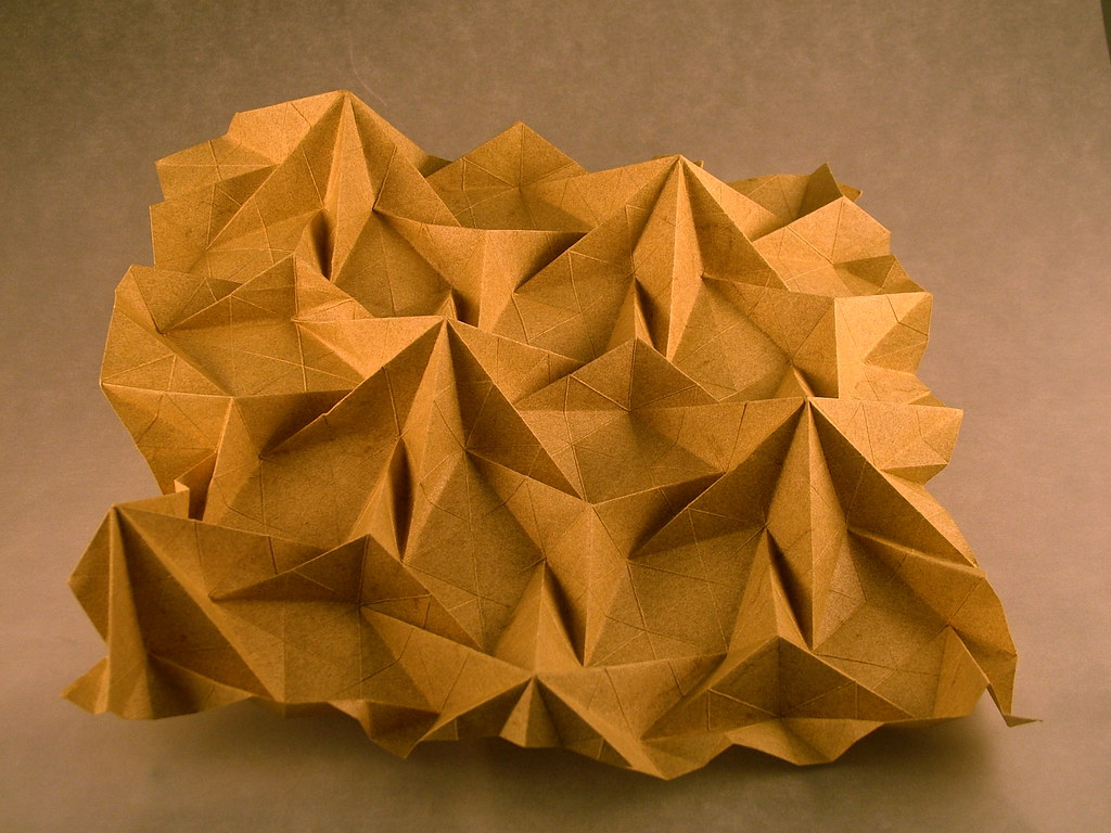 Origami Water Bomb Square Tessellation / Square Column (1/3) - a ... | 768x1024