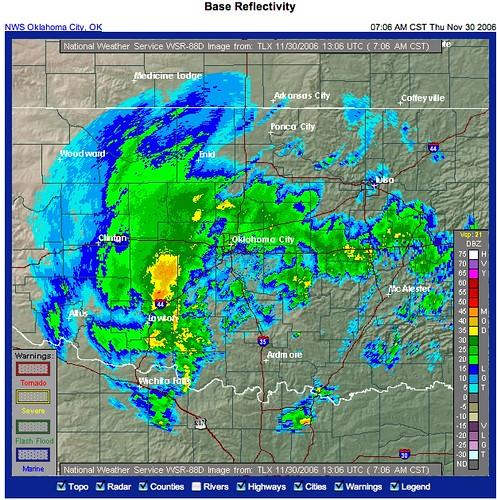 OKC Weather Radar 30 Nov 06 | Wesley Fryer | Flickr