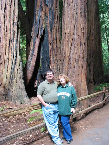Jeff and me in Muir Woods, north of San Francisco.