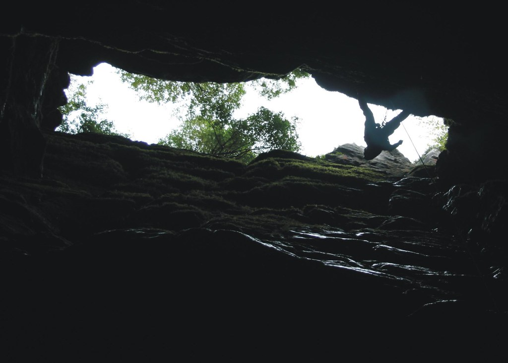 Caver ascending Eldon Hole