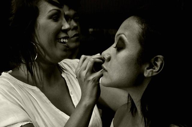 Backstage Fashion Show: Miradas by Pia Mathison & 70's Chic by Omaira Nowakowsky / Mhios Restaurant 12/11/2010