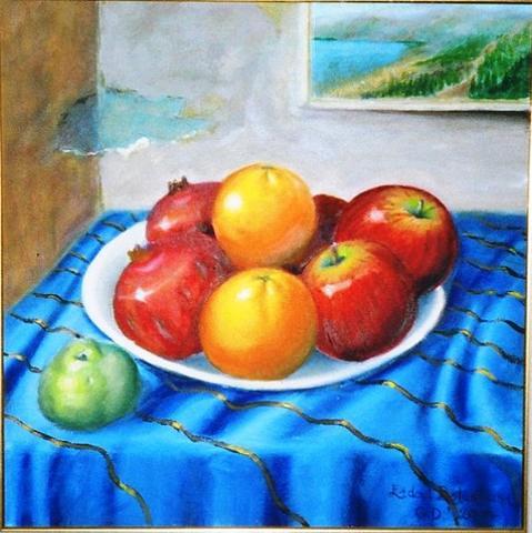Tabakta Meyve Resmi Boyama