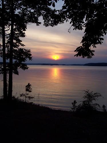 trees sunset lake clouds arkansas degray thebiggestgroup baronsquirrel