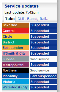 We dont love London tube strikes | by CTRLF5
