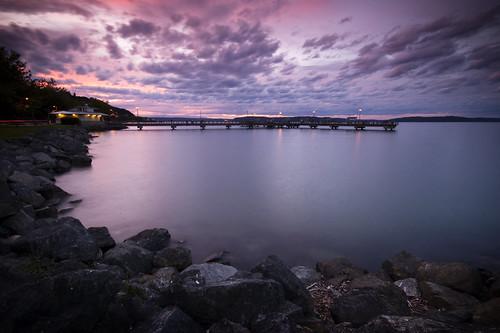 ocean sunset landscape pier washington waterfront pugetsound tacoma 1on1 rustonway commencementbay flickrsbest lesdavis