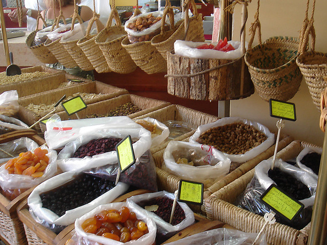 Spices and dried fruits