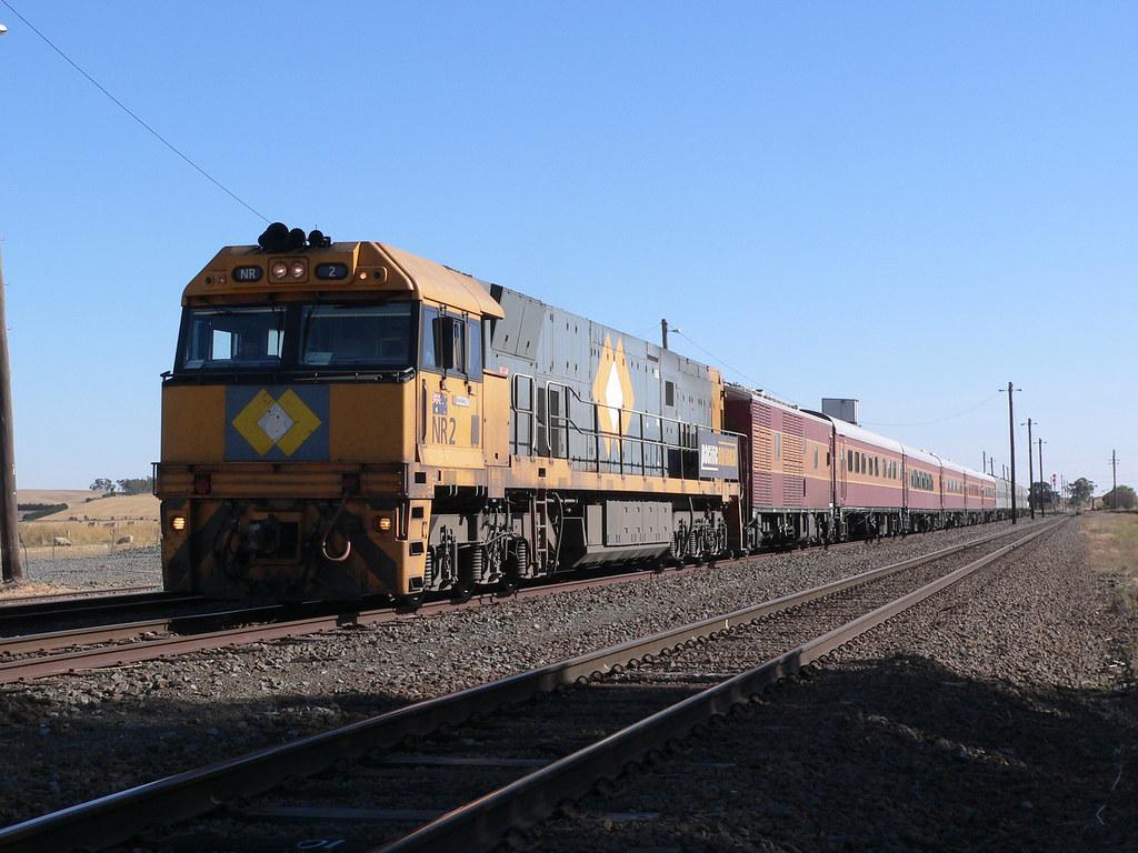 NR2 'Ozback Explorer' at Maroona by Rail Tourist Association