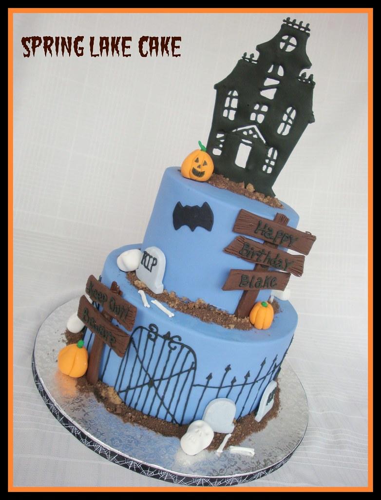 Miraculous Halloween Birthday Cake Halloween Themed Birthday Cake Flickr Funny Birthday Cards Online Fluifree Goldxyz
