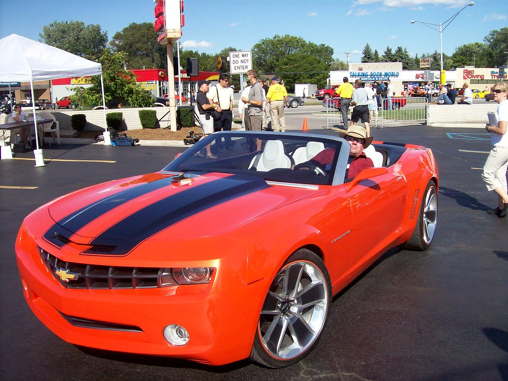 Steve Brandon In A Chevy Camaro Concept Car Here I Am I Flickr