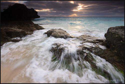 ocean winter sea beach water sunrise island dawn surf december waves atlantic beaches bermuda southshore