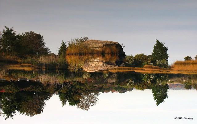 Hammonasset Pond - floating boulder