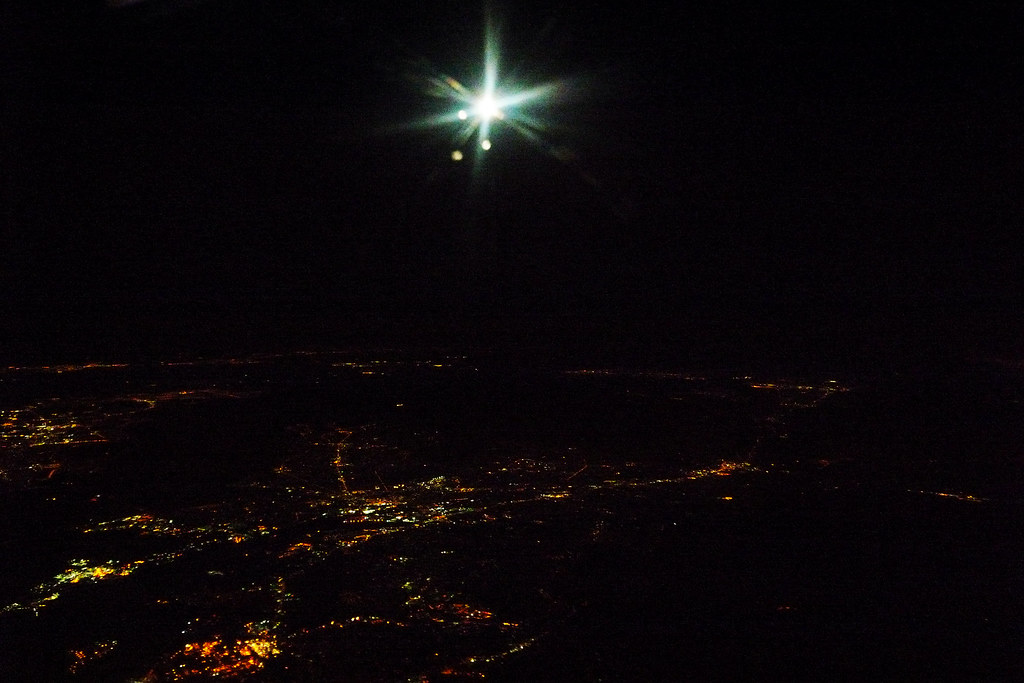 Night Sky Through The Airplane Window Gary Wong Flickr