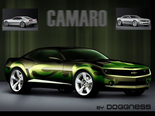Chevrolet Camaro Concept Vehicle 5th Gen Black Pimped By Doggness