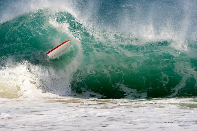Wipeout - Bodyboarding at Porthcurno Beach, Cornwall, UK
