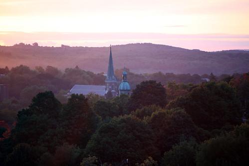 church sunrise steeple dome eos5d laurelhillcemetery canonef70200mmf28lisusm fitchburgma