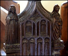 a 15th century woman and a 19th century deacon