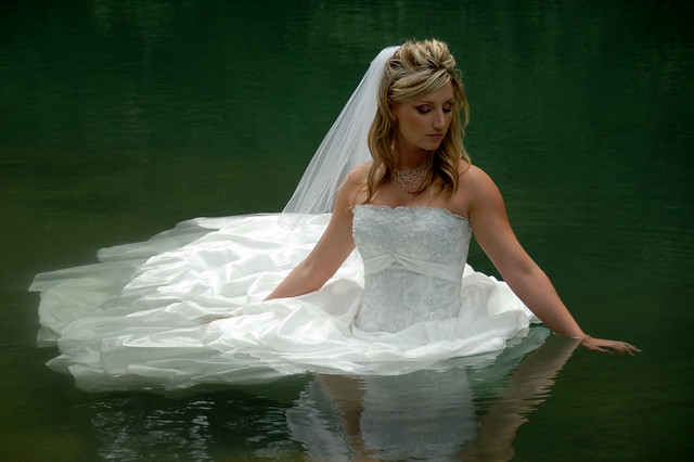 Bride in Water (Flickr Explore #11!)
