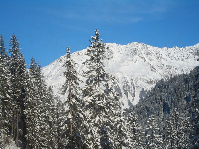 The beautiful mountains in Davos