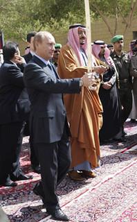 Vladimir Putin and Prince Salman bin Abdul Aziz