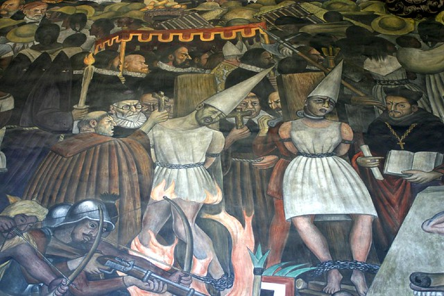 Mural Diego Rivera.............. Santa Inquisición.