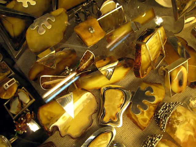Amber stall in Krakow