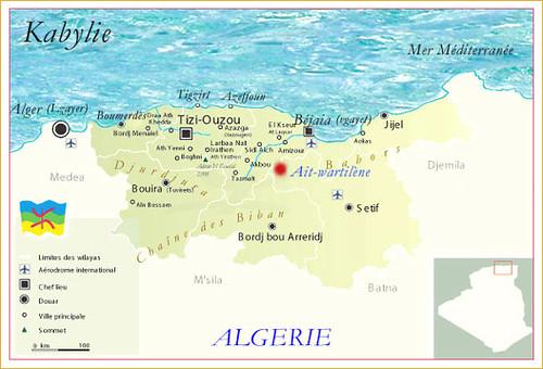 Carte De La Kabylie.La Carte De La Kabylie Algerie Amazigh Kabyle Flickr