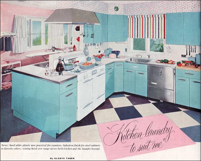 1954 Aqua Kitchen & Laundry
