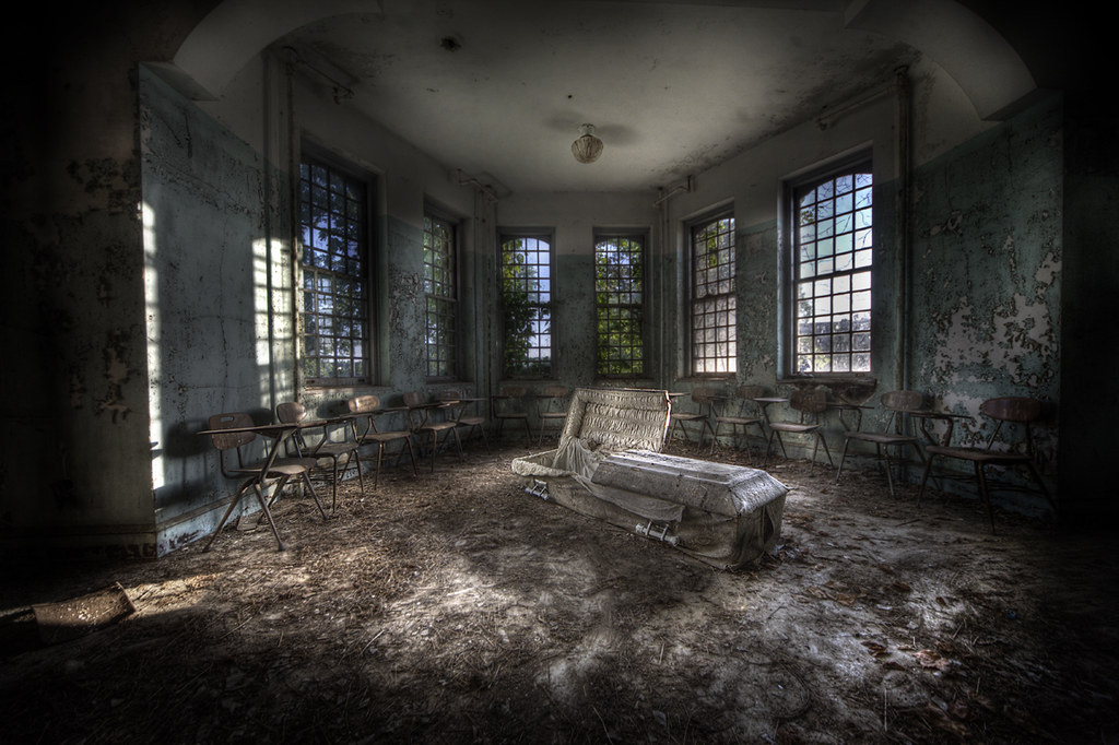 psychiatric hospital c | And yes that is a coffin ! Another