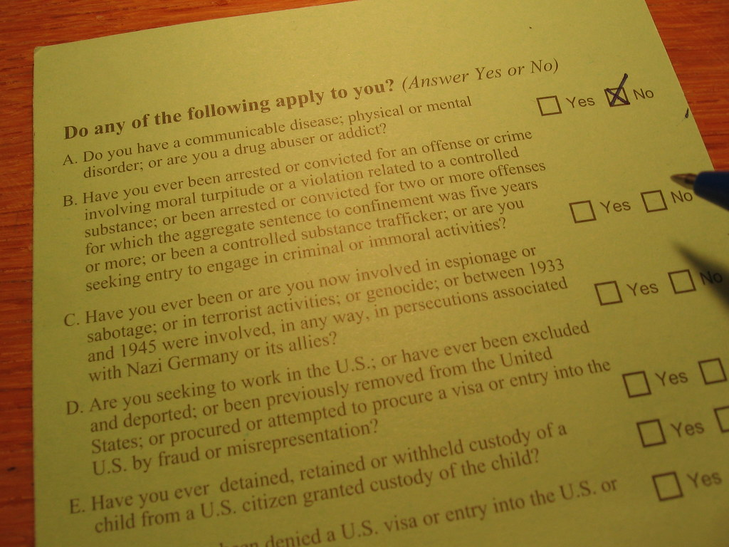 I find the USA's I-94 Nonimmigrant Visa Waiver form very i
