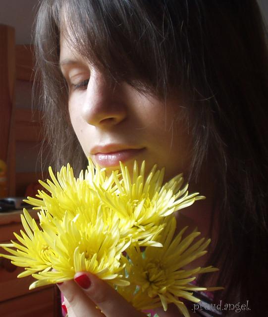 feel the flowers fragrance