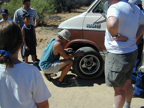 Tire Repair on Baja Backroads | by totalescape.com