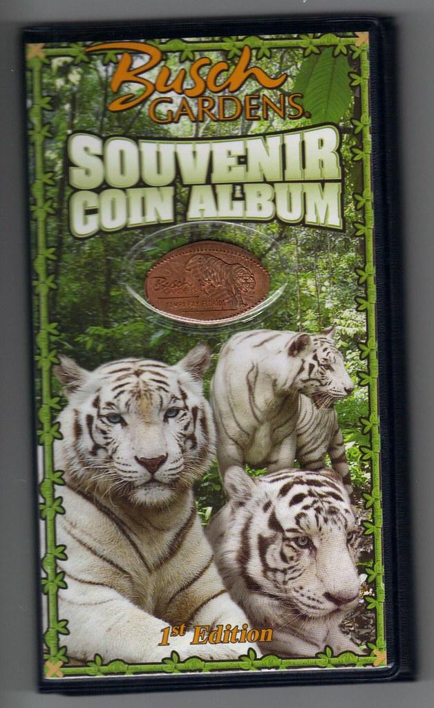 Elongated Pressed Penny Souvenir Album Book Busch Gardens