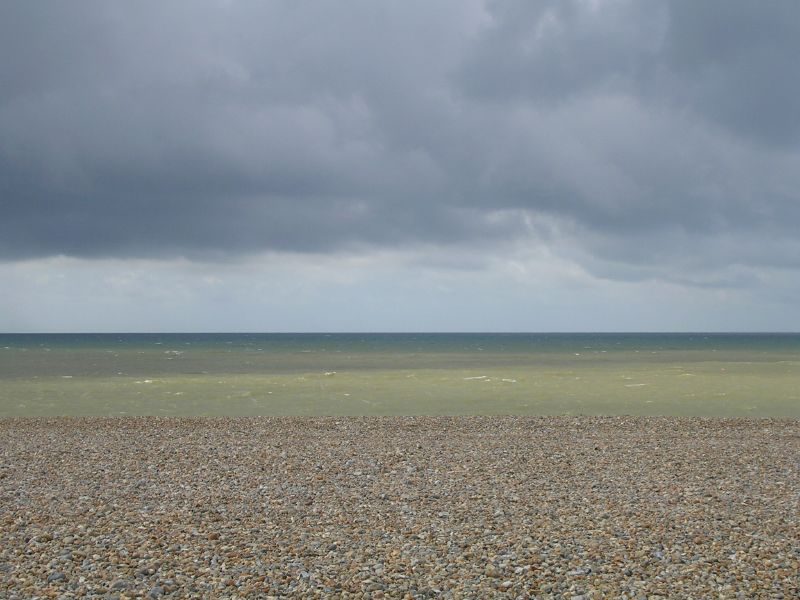 Sea, shingle, and sky. Seaford (Seaford to Eastbourne)