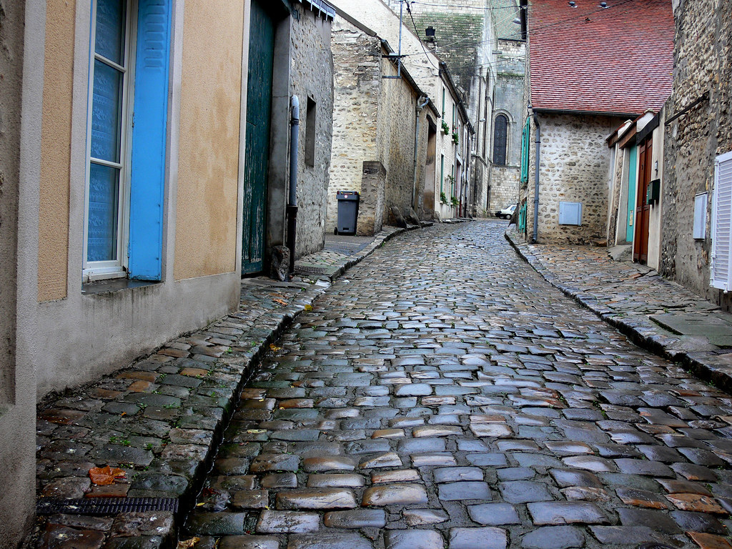 Cobblestone Street | This was taken south of Paris in a ...