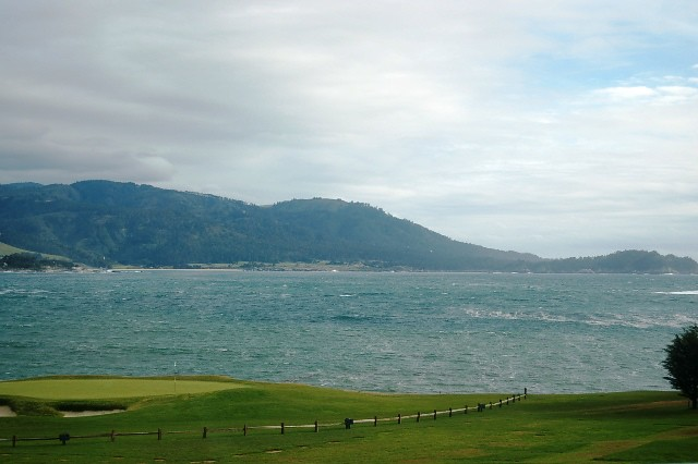 The 18th green at Pebble Beach.