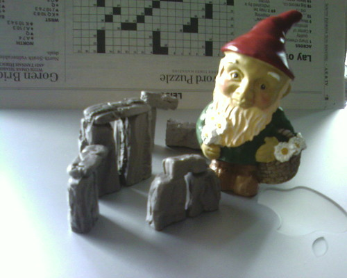 "Recreation of scene from Spinal Tap using ""Wee Little Gnome"" and ""Build Your Own Stone Henge""  stocking stuffers 
