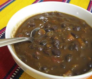 Black Bean Soup (w/ Recipe)