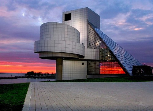 sunset ohio music colors lines architecture reflections geotagged interestingness cleveland unitedstatesofamerica clevelandohio legends museam rockandrollhalloffame rocknrollhalloffame explored followthelines anawesomeshot goldenphotographer damniwishidtakenthat geo:lat=4150803 geo:lon=81695033