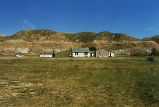 Ghost town in the Badlands