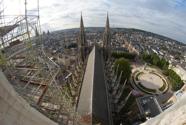 Vue panoramique de Rouen