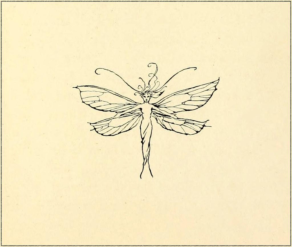 fairy marginalia graphic by arthur rackham