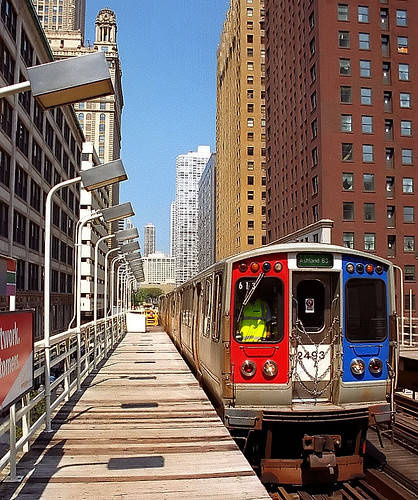 "Chicago - El Train ""Red, White & Blue"" 