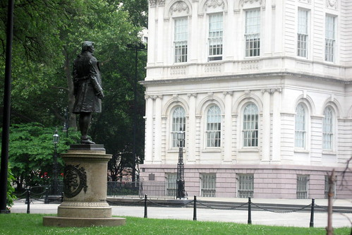 NYC - Civic Center - City Hall Park - Nathan Hale statue | by wallyg