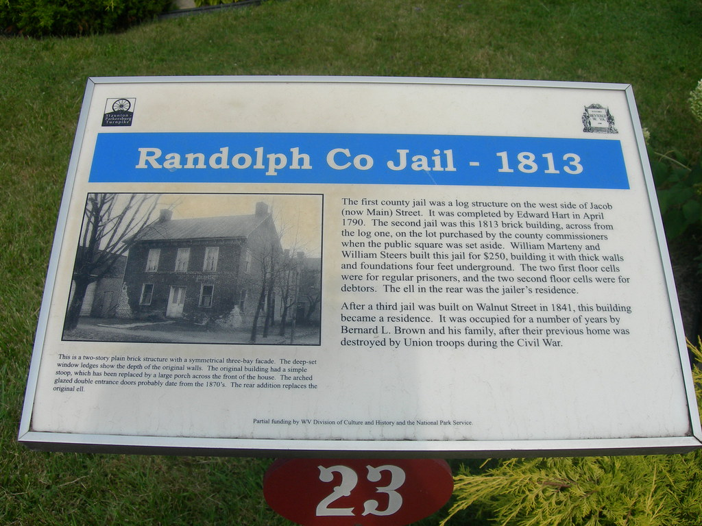 1813 Randolph County Jail Sign | Beverly, West Virginia | Flickr