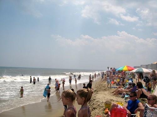 vacation beach july oceancity 2007